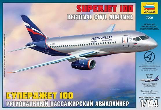 Набор подарочный-сборка Пассажирский авиалайнер Суперджет 100