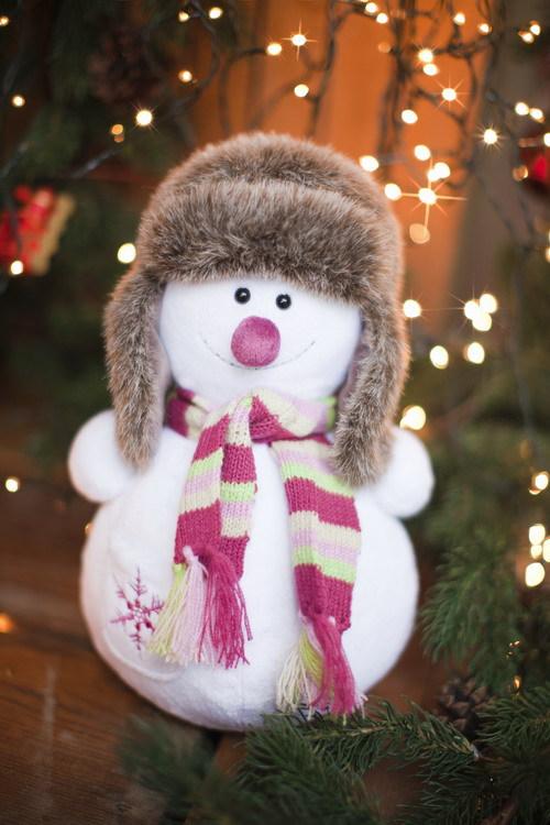 Снеговик 50см. Мягкие игрушки. Производство компании TRANGO Детские шапки, детские головные уборы, детские шапки оптом